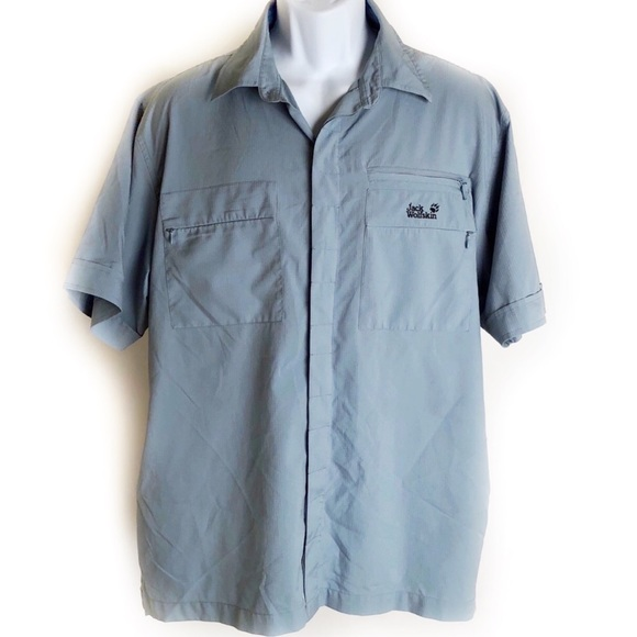 Jack Wolfskin Other - Jack Wolfskin Travel Shirt Sz L Blue & Gray